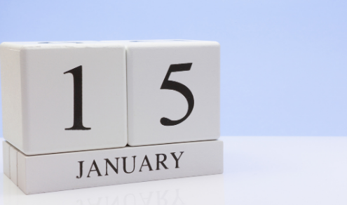 The next estimated tax deadline is January 15